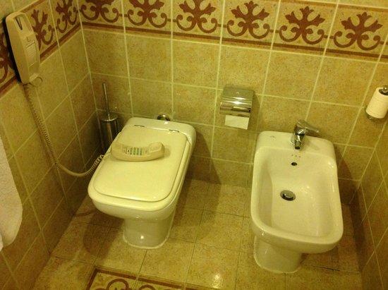 Reef Oasis Beach Resort : Унитаз, биде и телефон в ванной