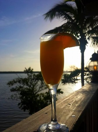 Lovers Key Resort: Flipper's Mimosa, great way to start the morning