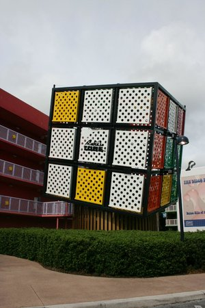 Disney's Pop Century Resort: One of several large Rubric Cubes
