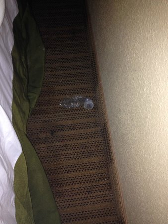 Extended Stay America - Chicago - Naperville - East: This is the used condom between the bed and wall.