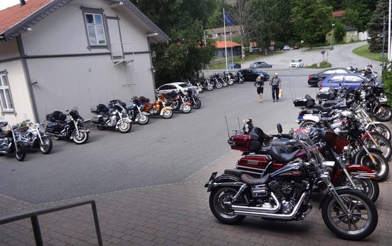 Lots of bikers at Park Hotel this weekend