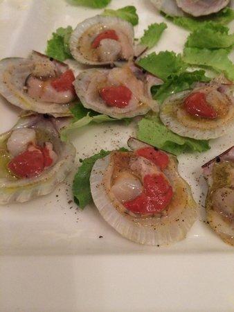 Albergo Trattoria Alle Castrette Restaurant: Canestrelli marinati al lime...