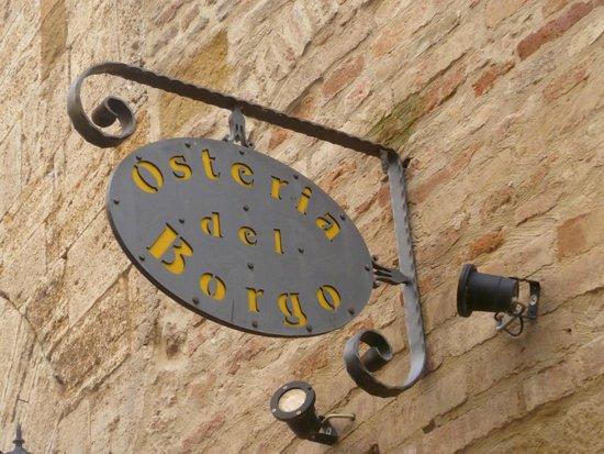 Osteria del Borgo: hotel exterior sign