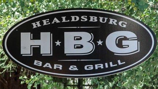 Sign for Healdsburg Bar & Grill