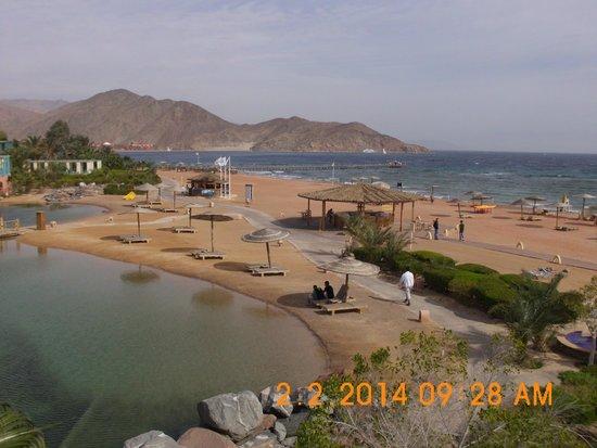 Miramar Resort Taba Heights: Blick vom Zimmer auf Strand