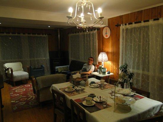 Suenos de Sur: sala de estar com lareira
