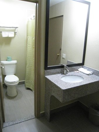 Travel Inn & Suites Flemington: New Bathroom