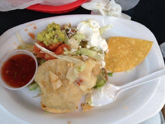 Pancho's Taqueria & Cantina: Chimichanga de Pernil asado.