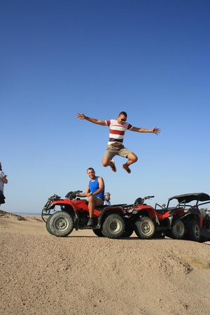Falcon Adventure Sharm - Day Tour Excursions : quad biking with our guide