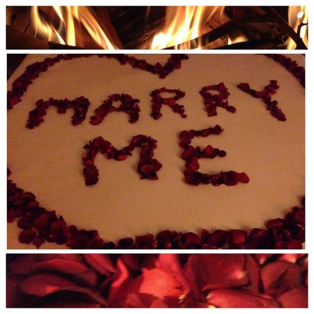 "65 Main : A Proposal Package: with rose petals, candles, chocolates,spa,massage and more... She said ""YES"""