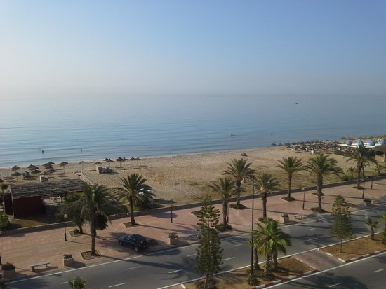 Saphir Palace & Spa: zicht op zee en strand