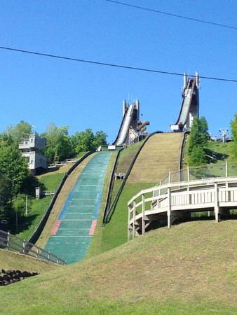 Olympic Ski Jump Complex : view from the base