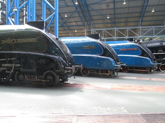 National Railway Museum: A4 Class Engines (Mallard at the rear)