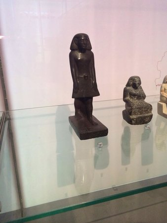 """The Manchester Museum: """"Serpentine statuette of a standing man named Neb-iw"""" - reported on the news for allegedly rotat"""
