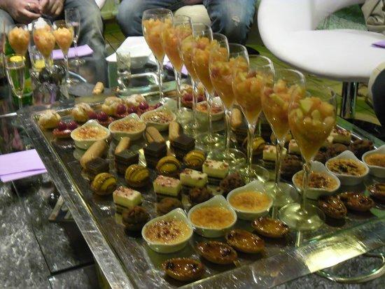La Flambee : Cocktail dînatoire dans un salon privatif.
