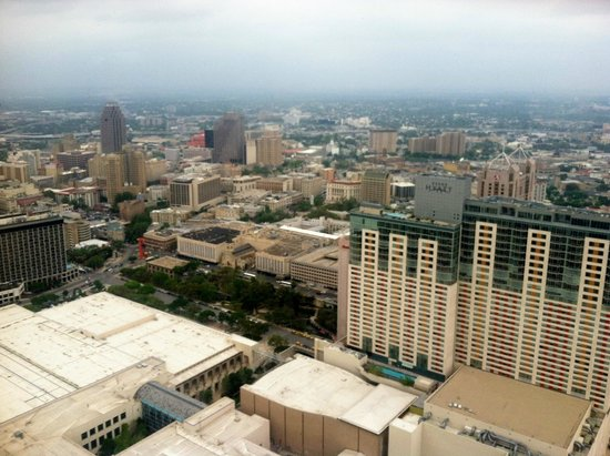 Tower of the Americas: The Alamo is near the center of the photo