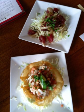 Haleiwa Joe's Seafood Grill: Cerviche and ahi poke