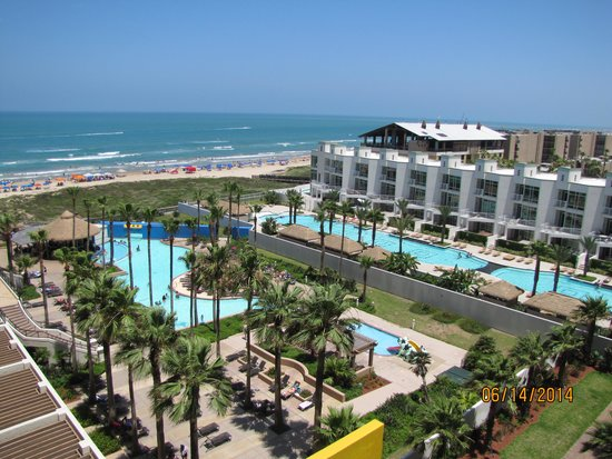 Pearl South Padre: pool and beach view from room