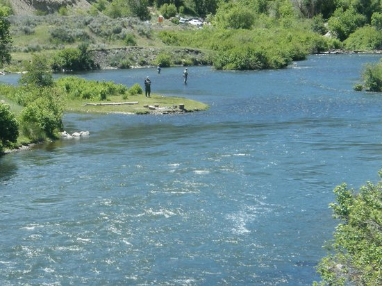 Heber Valley Railroad: Fisherman on Provo River