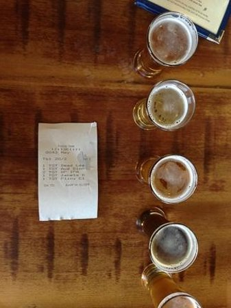 Russian River Brewing Company : Flight of beer