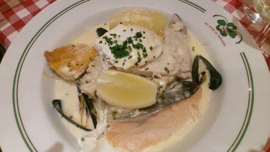 Au Pied de Cochon : Рыбное блюдо со сложным названием - не запомнила