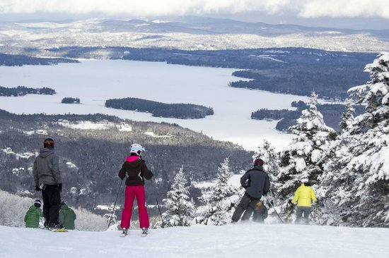 Mount Sunapee, NH: Scenic view from the Sunapee Summit