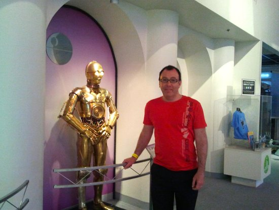 Carnegie Science Center: This is C3PO from Star Wars, one of the several famous Robots on display.