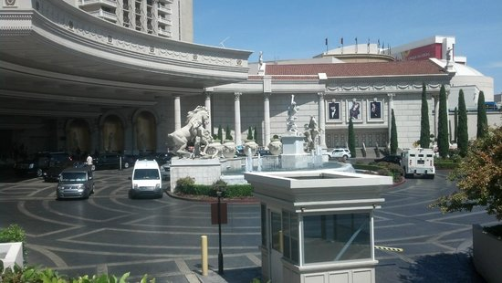 Street View of the Front Picture of Caesars Palace Las