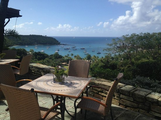 The Inn at English Harbour: The most beautiful view from the Terrace