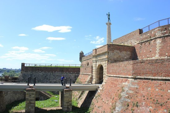 The Belgrade Fortress: The beautiful entrance to the fort.