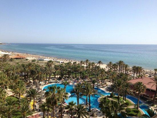 Riadh Palms Hotel: Vue de la chambre (6ème étage)