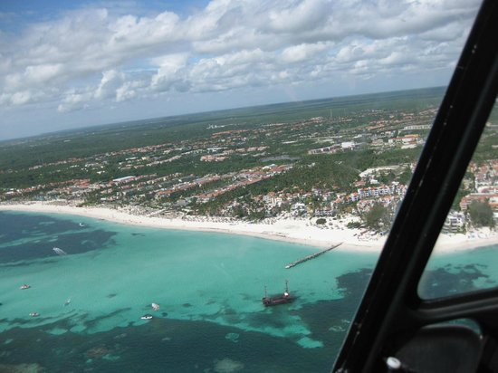 Zoetry Agua Punta Cana : Beach from helicopter