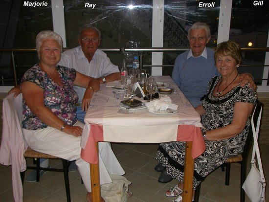 dokos taverna: A couple who we met on a boat who shared our evening out
