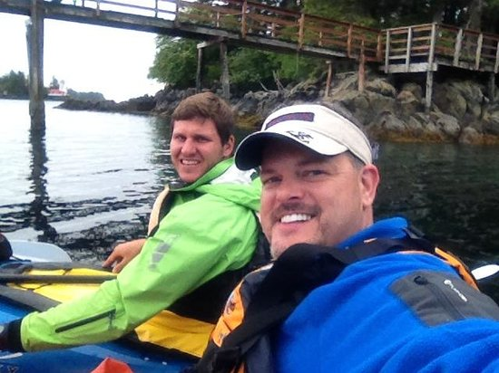 Sitka Sound Ocean Adventures: 1 of our 2 fantastic guides (Connor) Up Front with me.