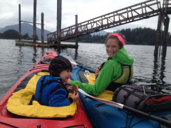 Sitka Sound Ocean Adventures: My son & Connor's wife, our other fantastic guide with my son (Tiger).