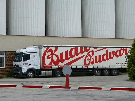 Budweiser Brewery (Budejovicky Budvar): Truck loaded ready for delivering the beer
