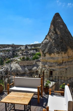 Divan Cave House : View over Goreme from the upstairs