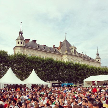 Lindwurmbrunnen: Public Viewing :-) WM 2014