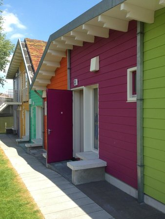 Camping Zeeburg: Eco-cabin blocks...