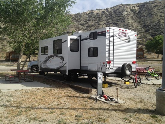 Pyramid Lake RV Resort: Site 110...complete with a tree!