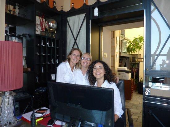 Hotel Villa Carlotta: The three lovely receptionists-Nathalie,Olga and Simona