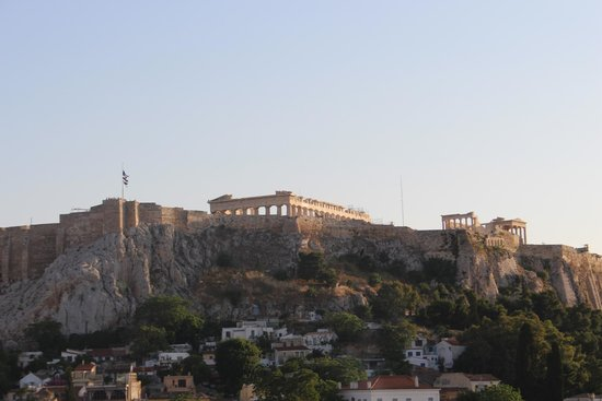 Central Athens Hotel: View from roof top bar