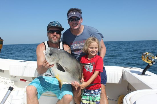 Sharkslayer Fishing Charters: CDK Sharkslayer and Trever and Jax Kagin with a permit from May 2014