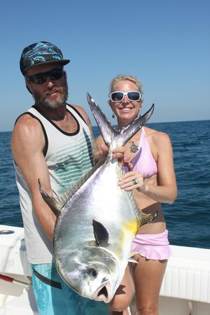 Sharkslayer Fishing Charters: CDK Sharkslayer and Mrs Slayer and her BIG Permit from May 2014
