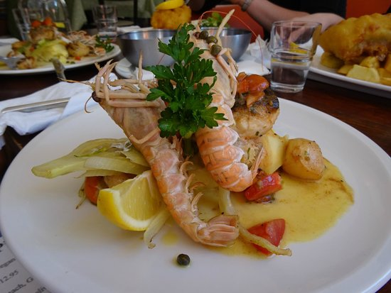 Richys Restaurant : Scallops, langastino and a couple of different kinds of fish.