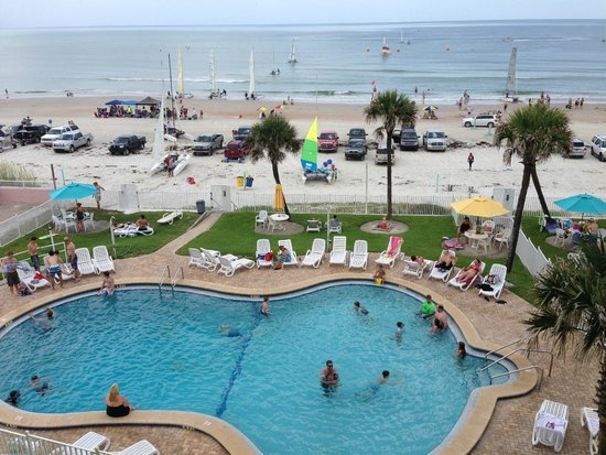 View Of Pool Beach From The Balcony
