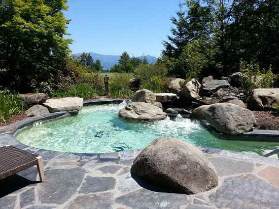 Skamania Lodge: Outdoor hot tub/spa
