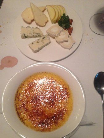 JP French Restaurant : Fromages & Crème brulée