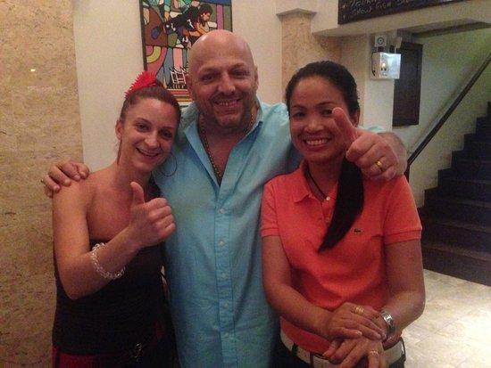 JP French Restaurant : Le chef Jp et sa femme