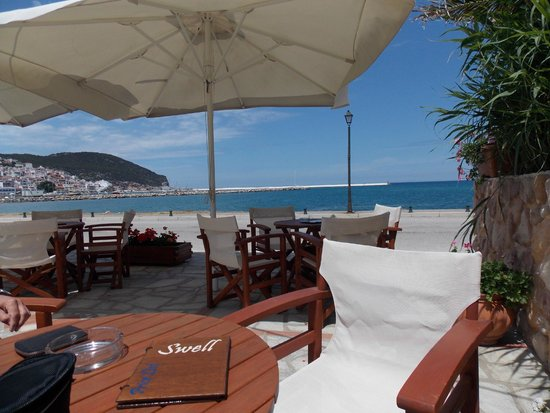 Skopelos Village: View from Swell Cafe/Bar